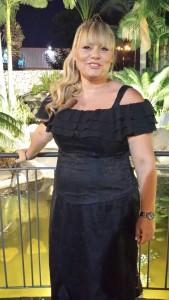 שמלת ערב  במידות גדולות בגזרת מחוך