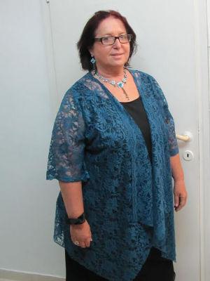 בגדי ערב לנשים  עליונית מתחרה חצאית ישרה מרשת וגופיה