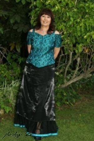 בגדי ערב לנשים ז'קט קצר מחשוף לב חצאית סטן
