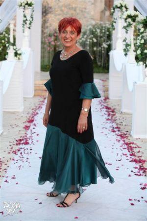 שמלות ערב בשילוב שיפון ותחרה