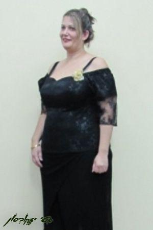 שמלות ערב מידות גדולות מחוך וחצאית בגזרת עפרון