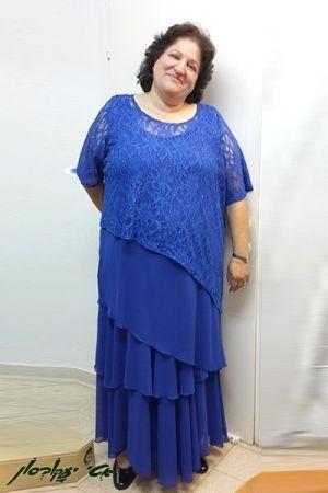 שמלות ערב מידות גדולות בגזרת שכבות