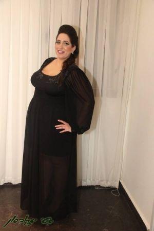 שמלות ערב מידות גדולות שיפון +עיטורים מרקמה
